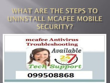 What are the steps to Uninstall McAfee Mobile Security?