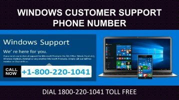 Dial 18002201041 Windows Customer Support Phone Number