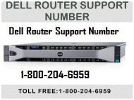 Dell Router Support Number 18442003971