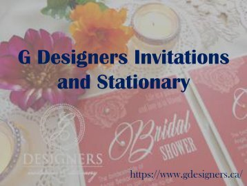 G Designers Invitation Card Order Process