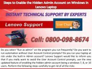 Steps to Enable the Hidden Admin Account on Windows in Lenovo Laptop