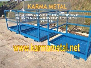 KARMA METAL santiye donanim ekipmanlari yuk sepeti cesitleri