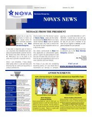 message from the president - Nova Services Group Inc.