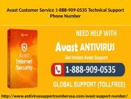 Avast Customer Service 1-888-909-0535 For Update & Upgrade to Avast Software