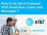 1-888-909-0535 Steps to fix List of Common AT&T Email Error Codes and Messages