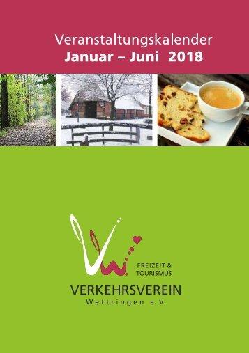 Veranstaltungskalender Verkehrsverein Wettringen Jan-Jun 2018