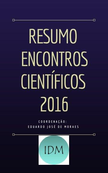 Ebook Encontros cientificos 2016