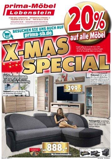 X-MAS-Special: 20% auf alle Möbel bei Prima SB-Möbel, 07356 Bad Lobenstein