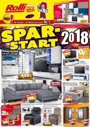 Spar-Start 2018 bei Rolli SB-Möbelmarkt in 65604 Elz bei Limburg