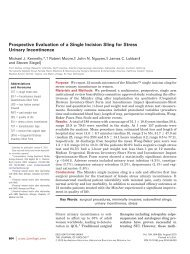 Prospective Evaluation of a Single Incision Sling - Atlanta Center for ...