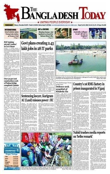 The Bangladesh Today (28-12-2017)