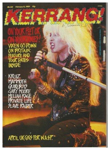 kerrang 225 feb 1989