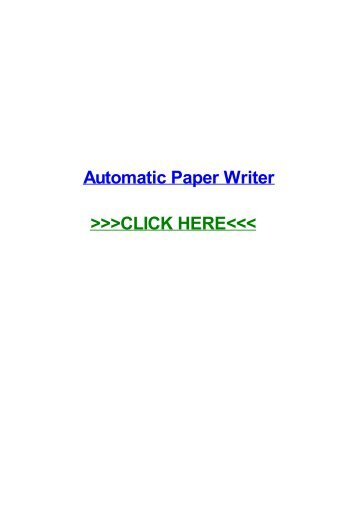 automatic paper writer