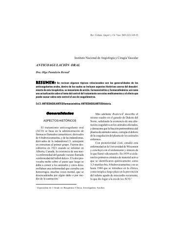 Anticoagulacion Oral 2001