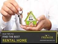 Tips to Find a Rental Home