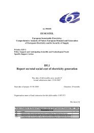 D5.1 Report on total social cost of electricity generation - Eusustel.be