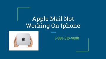 Apple Mail not working on iphone | customer service | toll free number