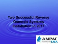 Reverse Osmosis Systems Installation 2017