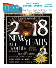 This Week Dec. 27 to Jan. 2, 2018. Happy New Year from Desert Daily Guide