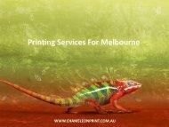 Printing Services For Melbourne - Chameleon Print Group