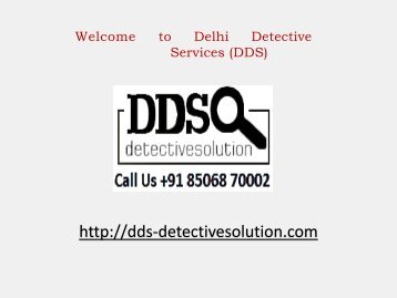 Private Spy Agency in Delhi India | Best Investigation Services