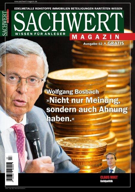 Sachwert Magazin Ausgabe 62, Dezember 2017