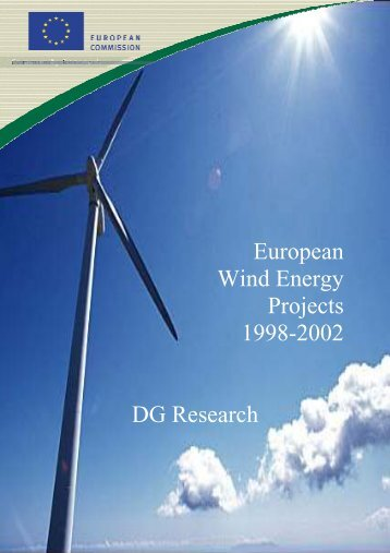 European Wind Energy Projects 1998-2002 DG Research