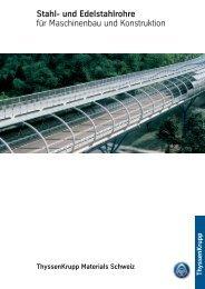 Stahl- und Edelstahlrohre für Maschinenbau und Konstruktion