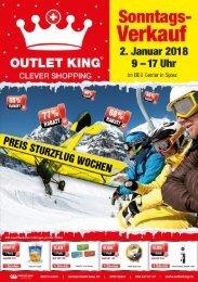 Outlet King Monatsflyer Dezember 2017