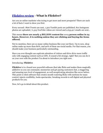 Flicktive Review and (FREE) Flicktive $24,700 Bonus