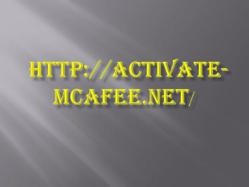 McAfee.com/activate | McAfeeactivate | McAfeecomactivate