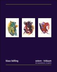 Klaus Bölling, Ostern - triduum | drei aquarellskizzen, ein gedicht