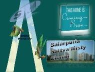 Salarpuria Sattva Misty Charm Project in Bangalore