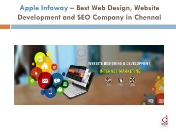 Apple Infoway – Best Web Design, Website Development and SEO Company in Chennai