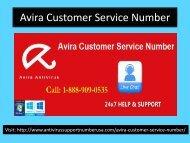 Avira Customer Support Number 1-888-909-0535