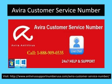 Avira Customer Support Number 1-888-909-0535