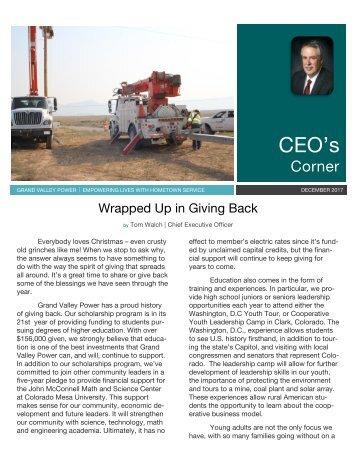 Dec 2017_CEO newsletter