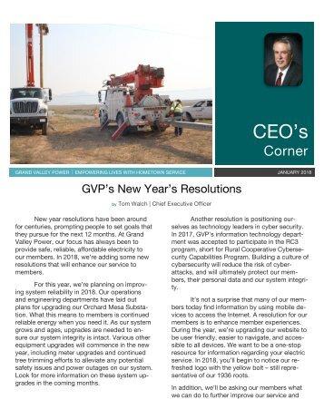 Jan 2018_CEO newsletter