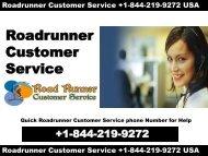+1-844-219-9272 ROADRUNNER SUPPORT PHONE NUMBER USA