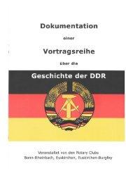 Dokumentation einer Vortragsreihe über die Geschichte der DDR