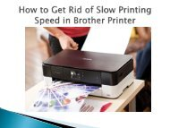 How to Get Rid of Slow Printing Speed in Brother Printer?