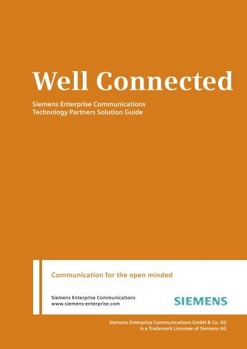 Well Connected - Siemens Enterprise Communications