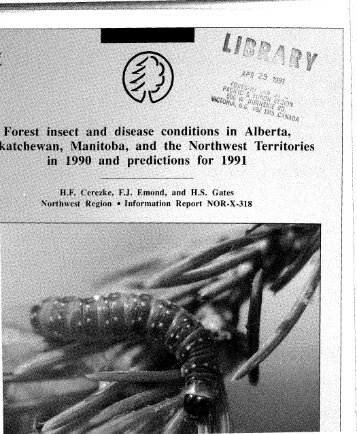 Forest Insect and Disease Conditions in Alberta, Saskatchewan - NFIS
