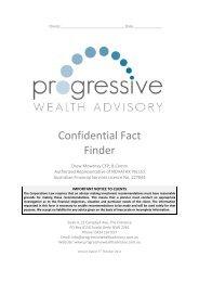 Confidential Fact Finder - Progressive Wealth - Home