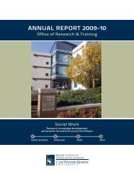 ANNUAL REPORT 2009-10 - Mandel School of Applied Social ...