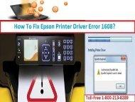 Steps To Fix Epson Printer Driver Error 1608?1-800-213-8289