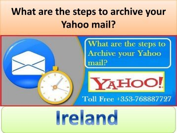 What are the steps to archive your Yahoo mail?