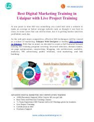 Best Digital Marketing Training in Udaipur with Live Project