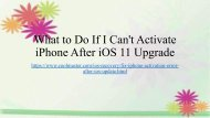 How to Fix iPhone Activation Error after iOS 11 Update