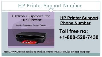 HP printer support number 18005287430